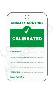 Calibrated Quality Control Tags