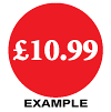 Price Labels £1.29, £1.49 and £1.99 to £24.99