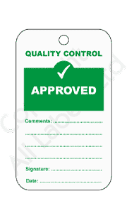 Approved Quality Control Tags