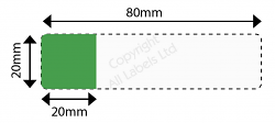 Cable Marker 20mm x 80mm with 20mm x 20mm white or coloured panel